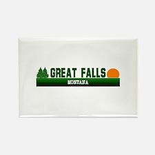 Great Falls, Montana Rectangle Magnet
