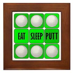 EAT, SLEEP, PUTT Framed Tile