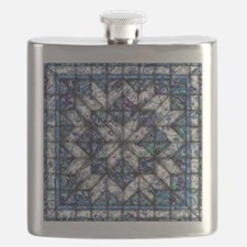 blue onion quilt Flask