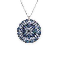 blue onion quilt Necklace