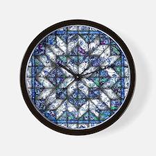 blue onion quilt Wall Clock