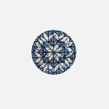 blue onion quilt Mini Button