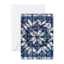 blue onion quilt Greeting Cards