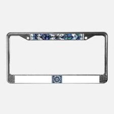 blue onion quilt License Plate Frame