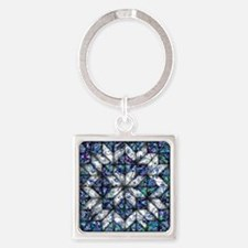 blue onion quilt Keychains