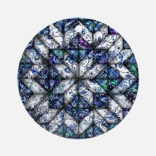 blue onion quilt Ornament (Round)