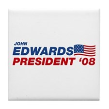 John Edwards for President Tile Coaster