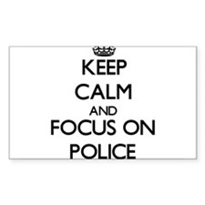 Keep Calm and focus on Police Decal