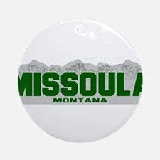 Missoula, Montana Ornament (Round)