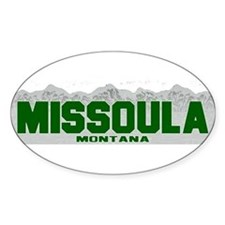 Missoula, Montana Oval Decal