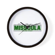 Missoula, Montana Wall Clock