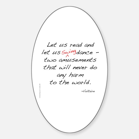 Voltaire On Swing Oval Decal
