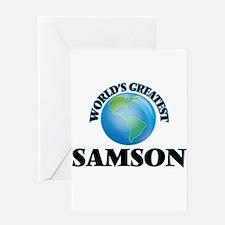 World's Greatest Samson Greeting Cards