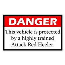 Attack Red Heeler Decal