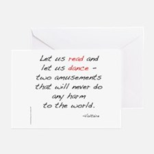 Voltaire On Dance Greeting Cards (Pk of 10)