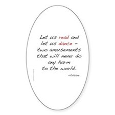 Voltaire On Dance Oval Decal