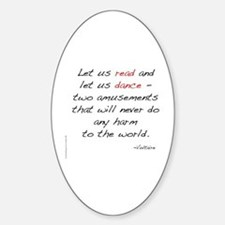 Voltaire On Dance Oval Stickers