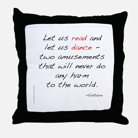Voltaire On Dance Throw Pillow