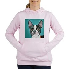 Boston Terrier Women's Hooded Sweatshirt