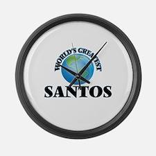 World's Greatest Santos Large Wall Clock