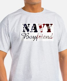 Navy Boyfriend Flag T-Shirt