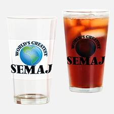 World's Greatest Semaj Drinking Glass