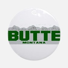Butte, Montana Ornament (Round)