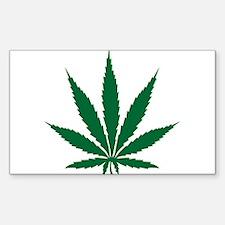 Marijuana Leaf Decal