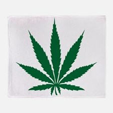 Marijuana Leaf Throw Blanket