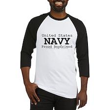 Proud Navy Boyfriend Baseball Jersey