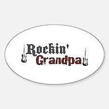 Rockin Grandpa Oval Decal