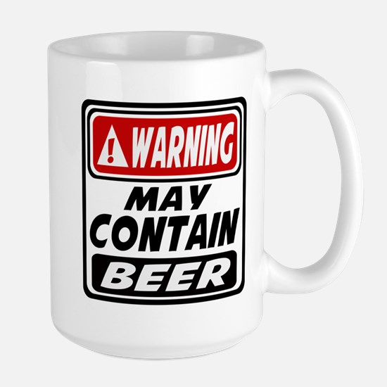 WARNING MAY CONTAIN BEER Mugs