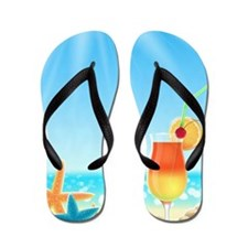 Beach Vacation Flip Flops