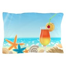Beach Vacation Pillow Case