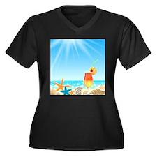 Beach Vacation Plus Size T-Shirt