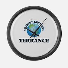 World's Greatest Terrance Large Wall Clock