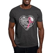 Breat Cancer Awareness Heart T-Shirt