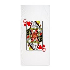 Queen of Hearts Beach Towel