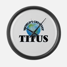 World's Greatest Titus Large Wall Clock