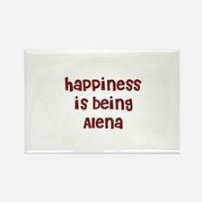 happiness is being Alena Rectangle Magnet