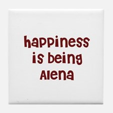 happiness is being Alena Tile Coaster