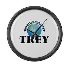 World's Greatest Trey Large Wall Clock