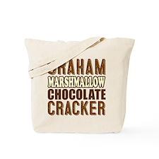 Graham Cracker Marshmallow Chocolate Tote Bag