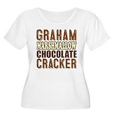 Graham Cracker Marshmallow Chocolate Plus Size T-S