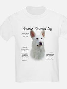 White GSD T-Shirt