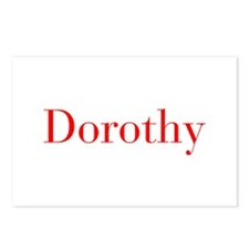Dorothy-bod red Postcards (Package of 8)