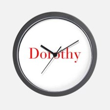 Dorothy-bod red Wall Clock