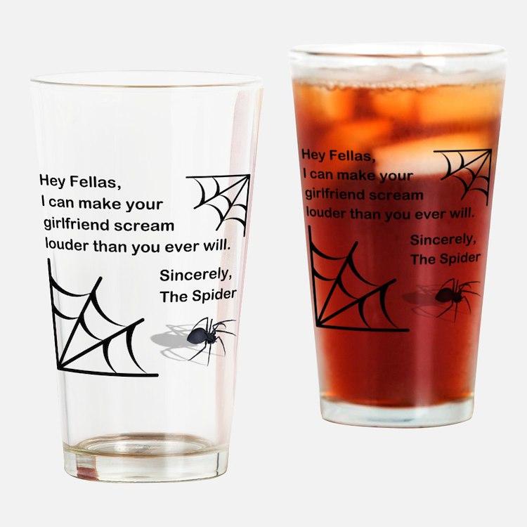 HEY FELLAS Drinking Glass