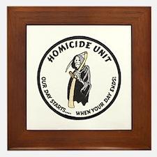 Homicide Unit Framed Tile