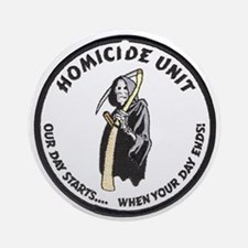 Homicide Unit Ornament (Round)